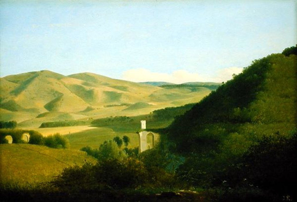 Detail of A Valley in the Countryside by Joseph August Knip