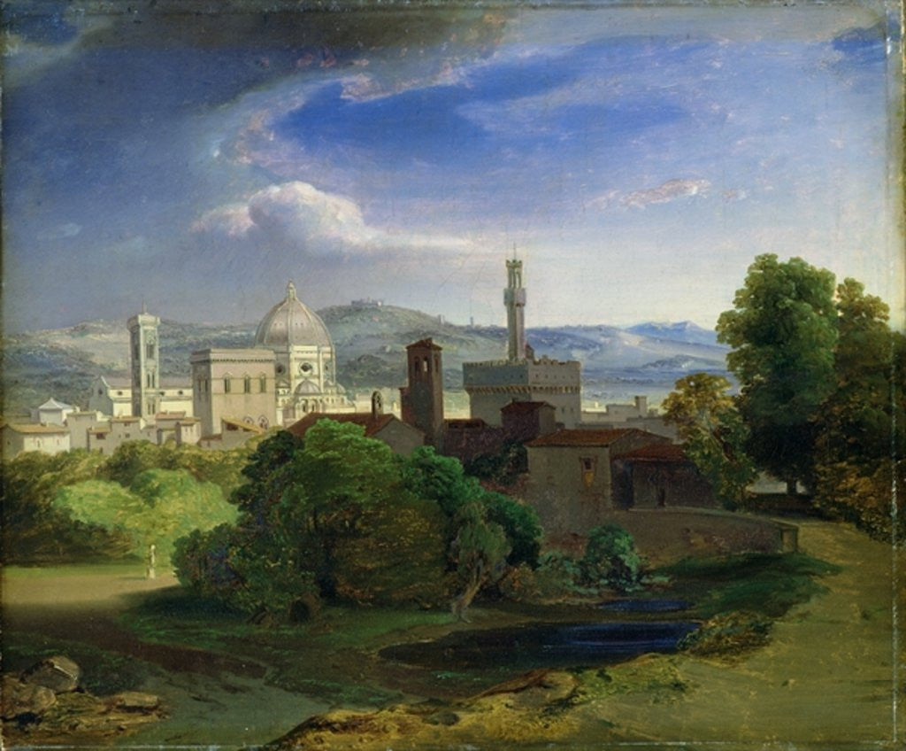 Detail of View over Florence by Carl Rottmann