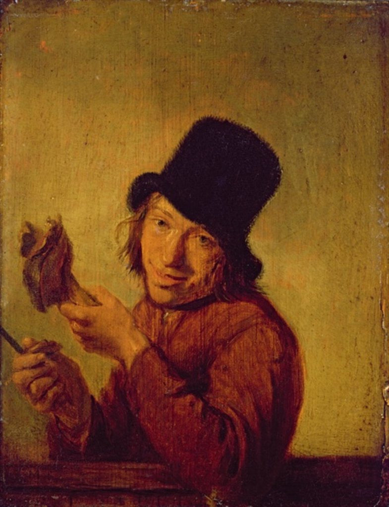 Detail of The Ham Eater by Hendrik Martensz Sorgh