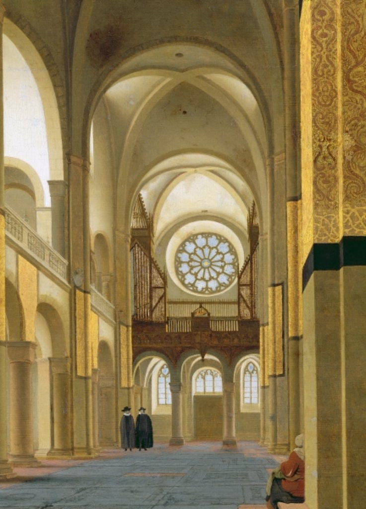 Detail of Interior of the Marienkirche in Utrecht by Pieter Jansz Saenredam