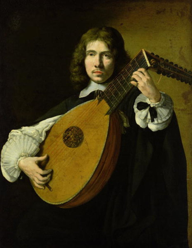 Detail of The Lute-Player by French School