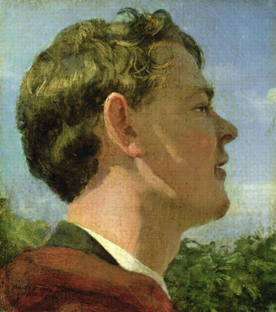 Detail of The Artist's Cousin by Hans Thoma