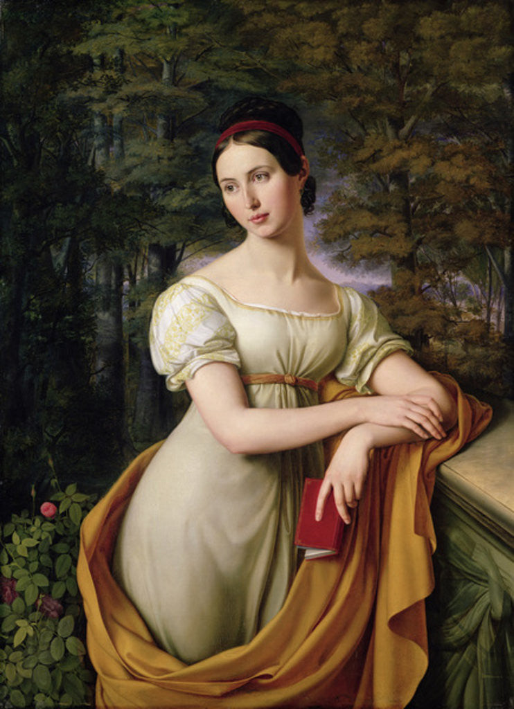 Detail of Agnes Rauch by Wilhelm Schadow