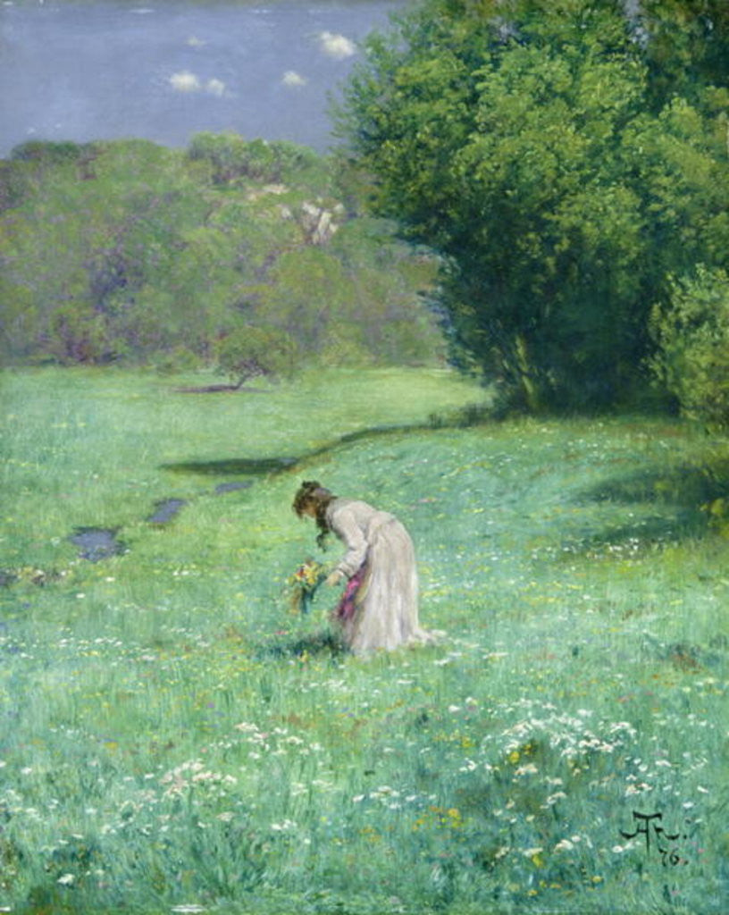 Detail of Woodland Meadow by Hans Thoma