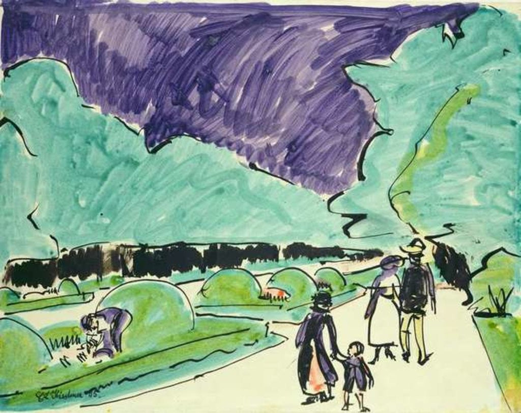 Detail of Entrance to a large garden in Dresden by Ernst Ludwig Kirchner