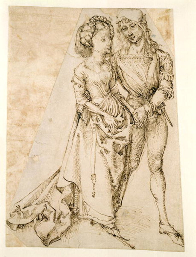 Detail of Lovers by Albrecht Dürer or Duerer