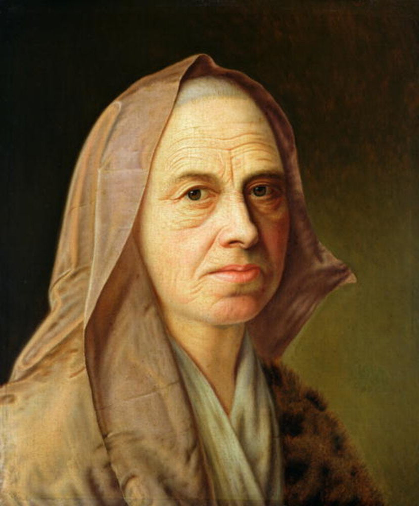 Detail of Old Woman by Balthasar Denner
