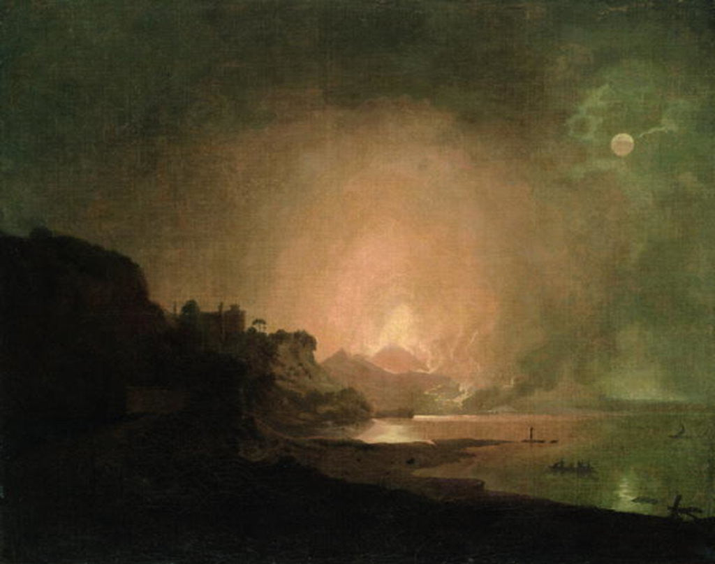 Detail of The Eruption of Mount Vesuvius by Joseph Wright of Derby