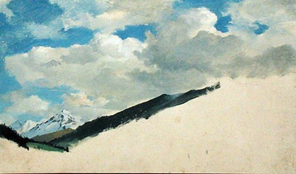 Detail of Study of Clouds with Mountain Tops by Jacob Gensler
