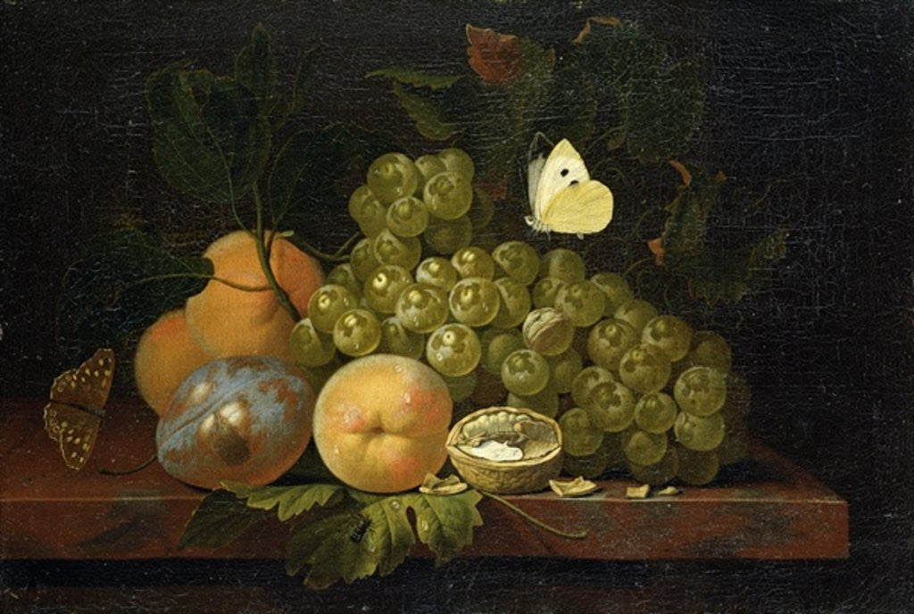 Detail of Fruit Study by Ernst Stuven