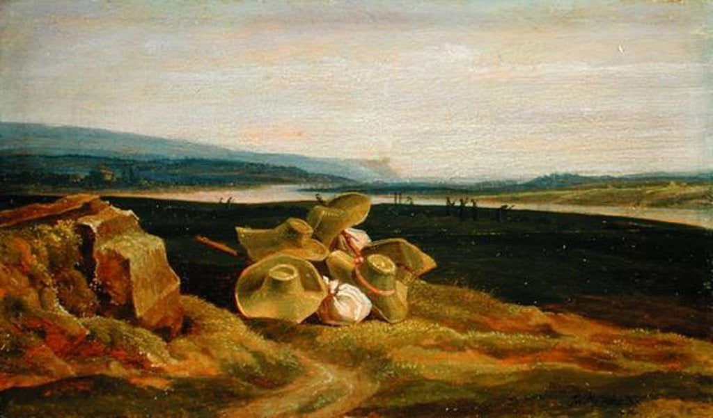 Detail of Landscape with Sun Hats by Friedrich Philipp Reinhold