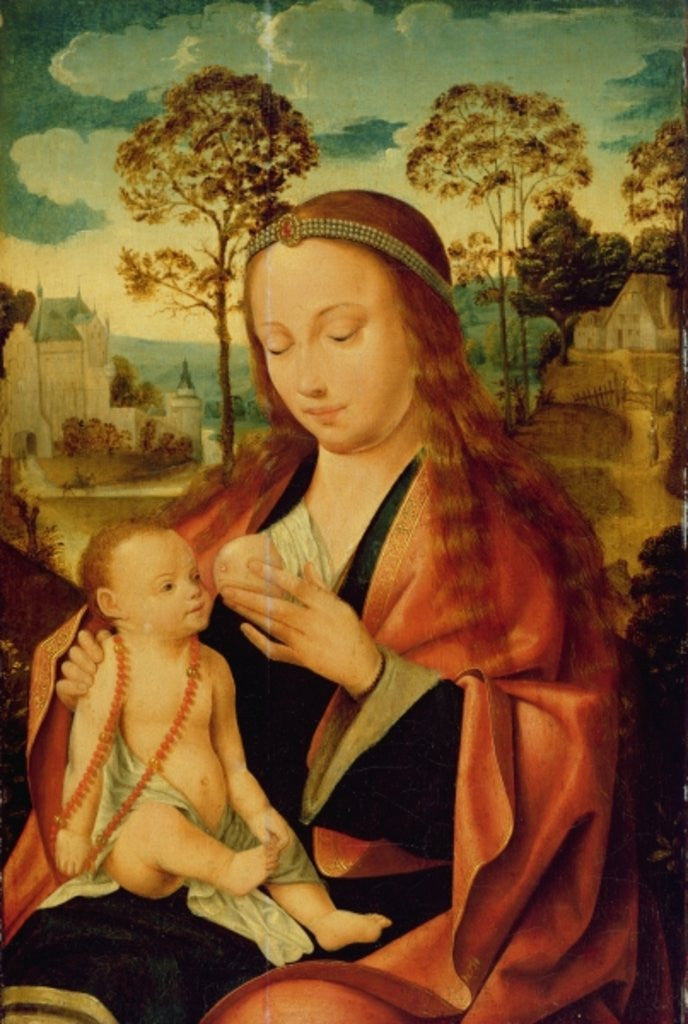 Detail of Mary with the Christ Child, early 16th century by Dutch School