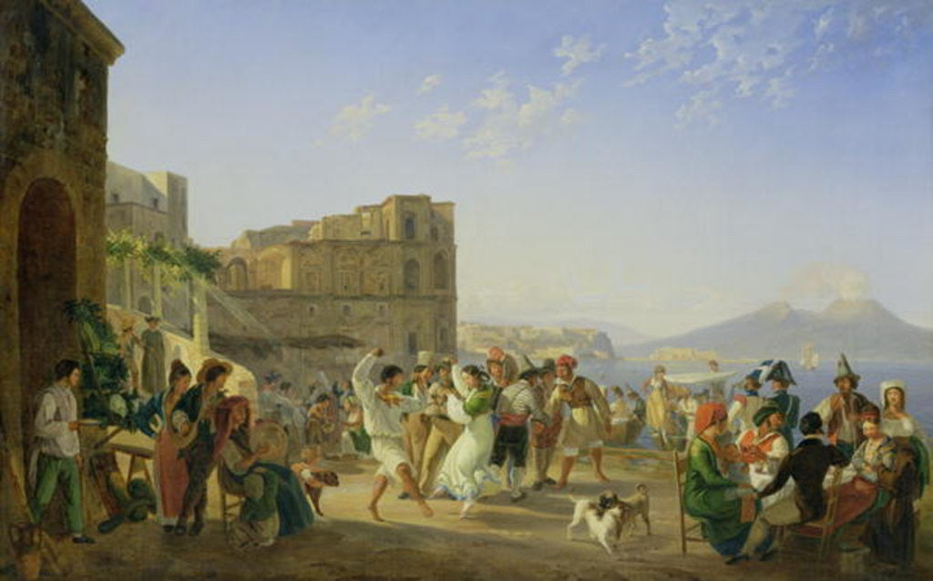Detail of Italian Dancing, Naples by Carl Wilhelm Goetzloff