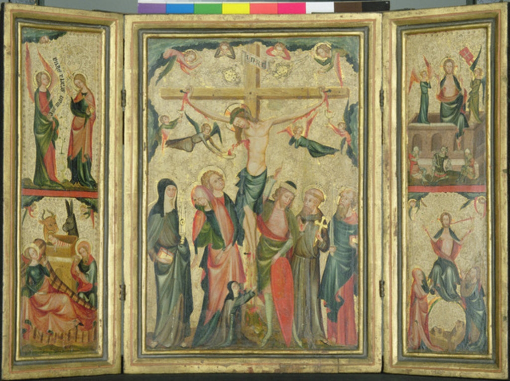 Detail of Triptych depicting the Crucifixion of Christ by Master of Cologne