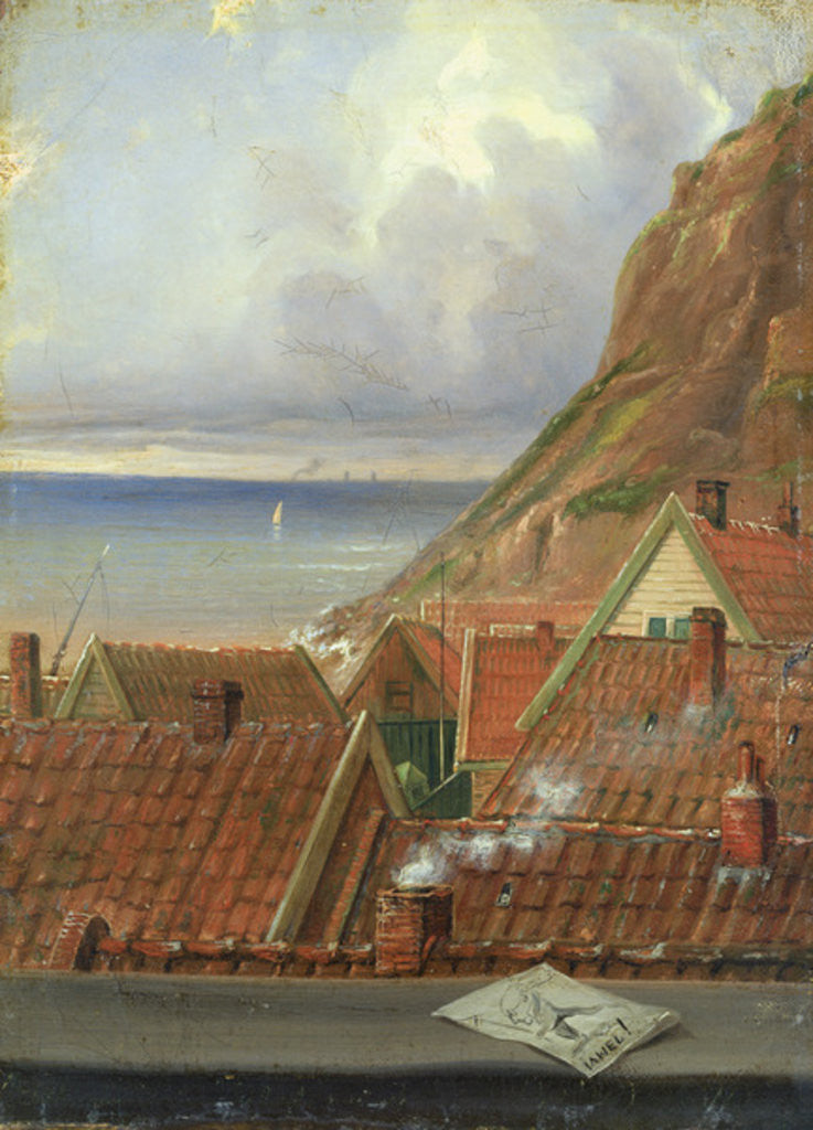 Detail of View from a Window of Helgoland by Ernst Willers