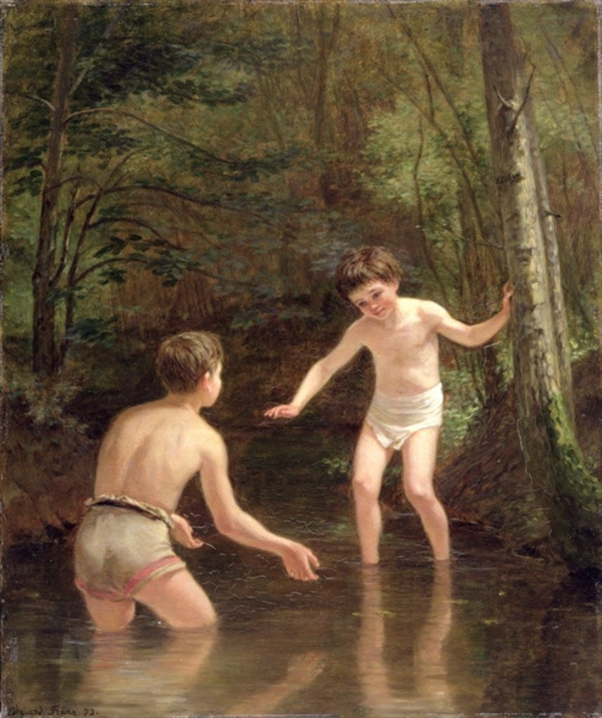 Detail of Bathing Boys by Pierre Edouard Frere