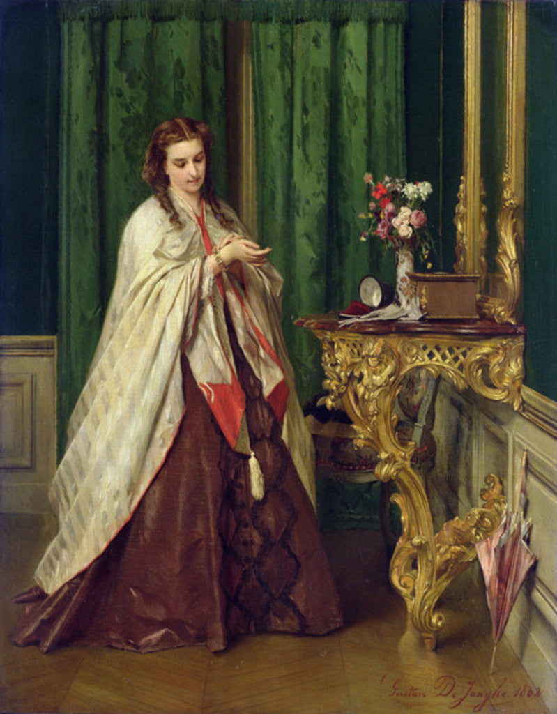 Detail of Woman at her Toilet by Gustave Leonard de Jonghe