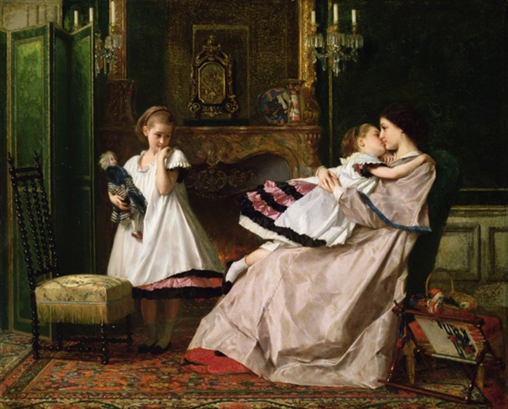 Detail of Motherly Love by Gustave Leonard de Jonghe