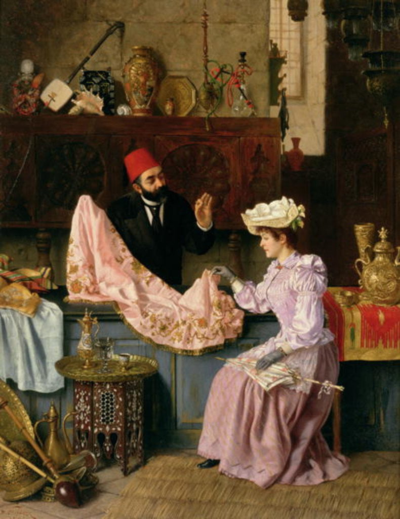 Detail of In the Souk by Moritz Stifter