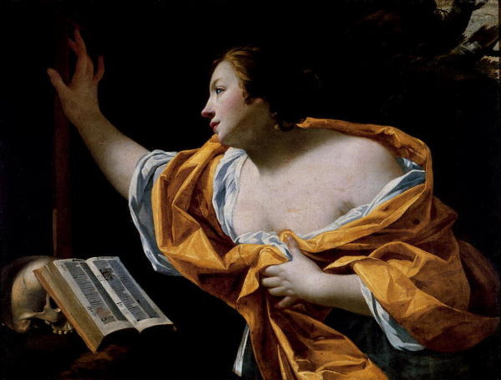 Detail of The Penitent Magdalene by Simon Vouet