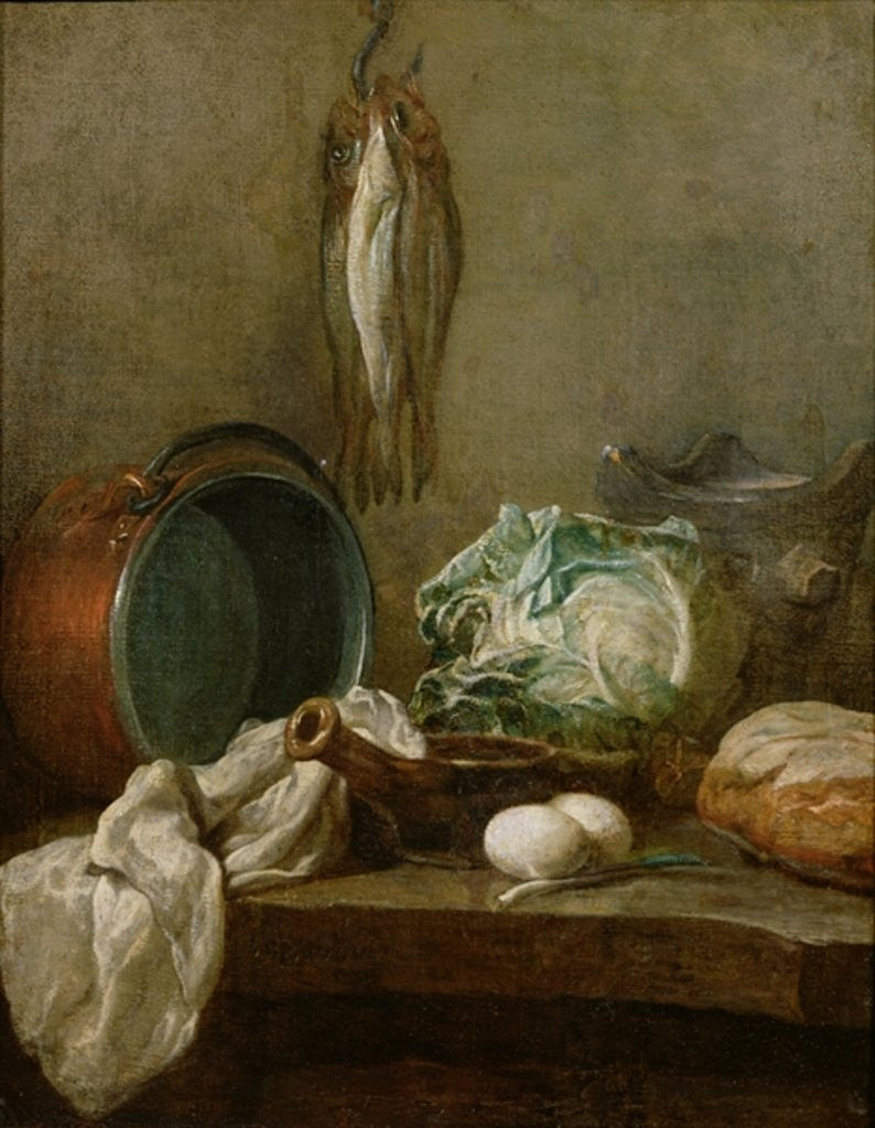 Detail of Still Life by Jean-Baptiste Simeon Chardin
