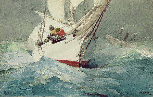 Detail of Diamond Shoal by Winslow Homer