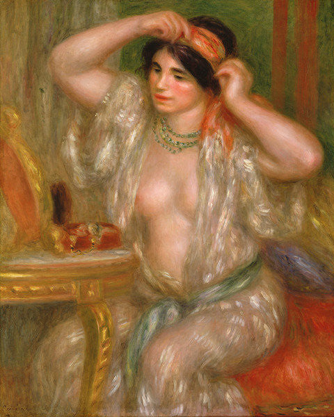Detail of Gabrielle at the Mirror by Pierre Auguste Renoir