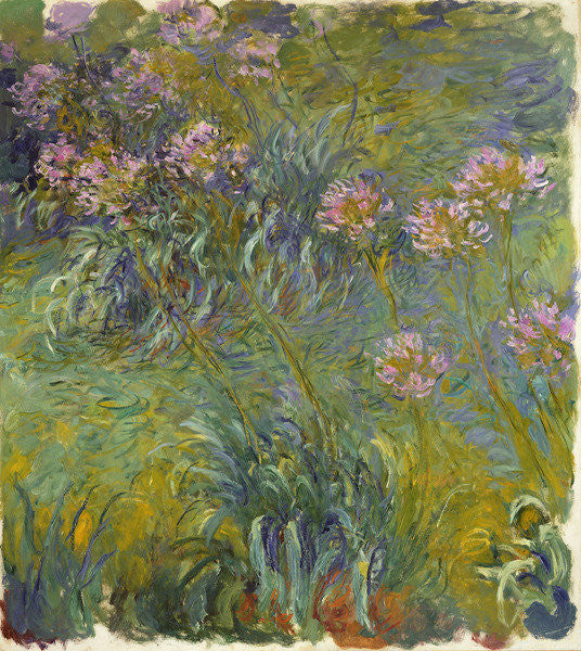 Detail of Agapanthus by Claude Monet