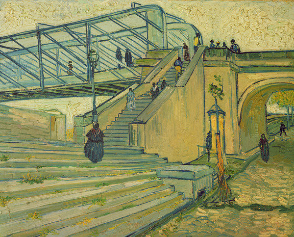 Detail of Bridge of Trinquetaille by Vincent van Gogh