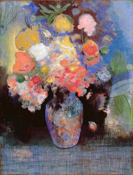 Detail of Flowers by Odilon Redon