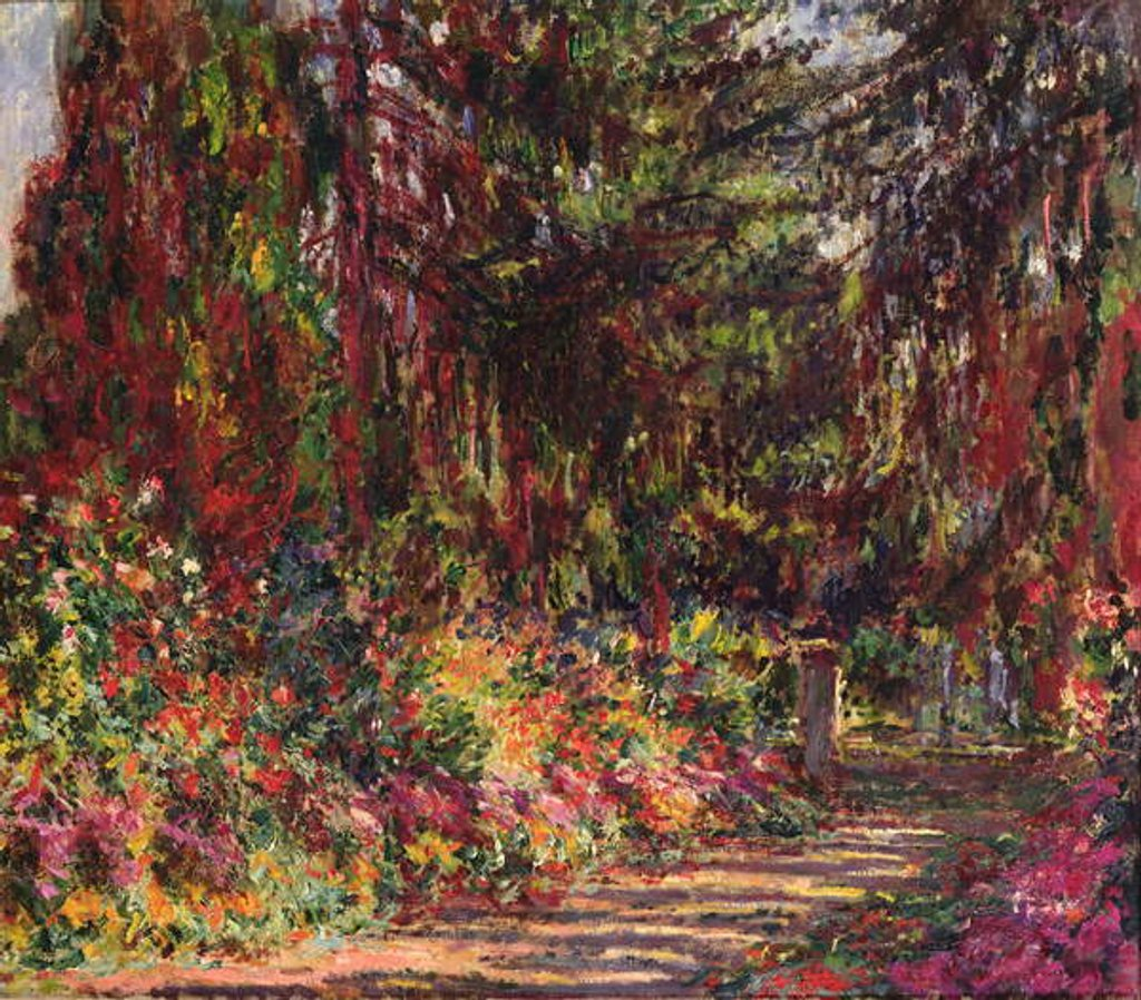 Detail of The Garden Path at Giverny, 1902 by Claude Monet