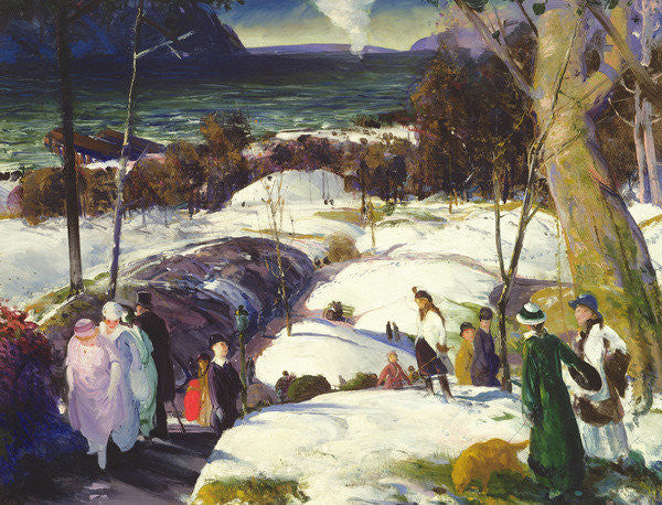 Detail of Easter Snow by George Wesley Bellows
