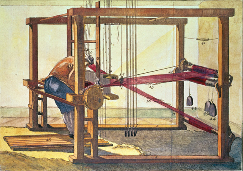 Detail of The Loom for the making of Velvet by Anonymous