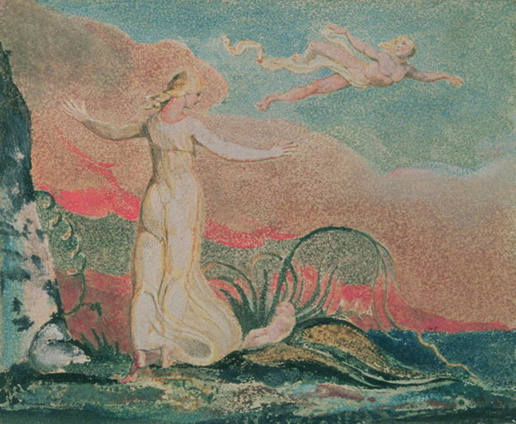 Detail of The Book of Thel; Plate 4 Thel in the Vale of Har by William Blake