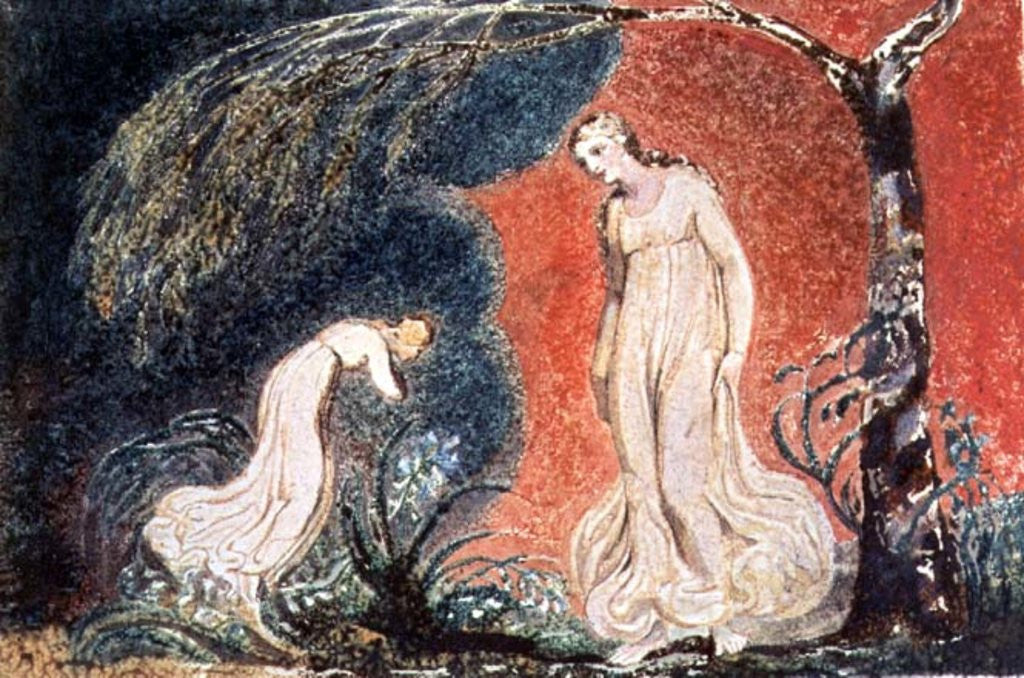 Detail of Book of Thel by William Blake