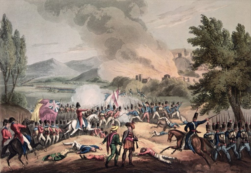 Detail of Battle of Pombal, 12th March 1811, engraved by Thomas Sutherland by William Heath