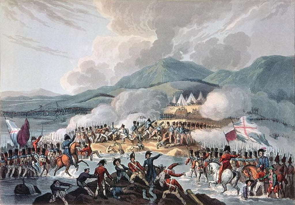 Detail of Battle of the Bidassoa, 9th October, 1813: engraved by Daniel Havell by William Heath