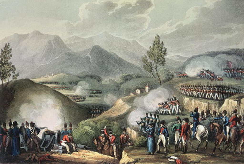 Detail of Battle of Salamonda, May 16th, 1809 by William Heath