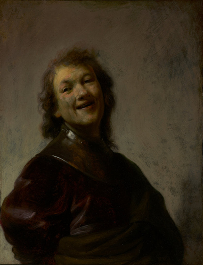 Detail of Rembrandt Laughing by Rembrandt Harmensz. van Rijn