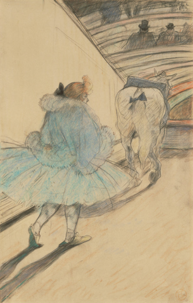 Detail of At the Circus: Entering the Ring by Henri de Toulouse-Lautrec