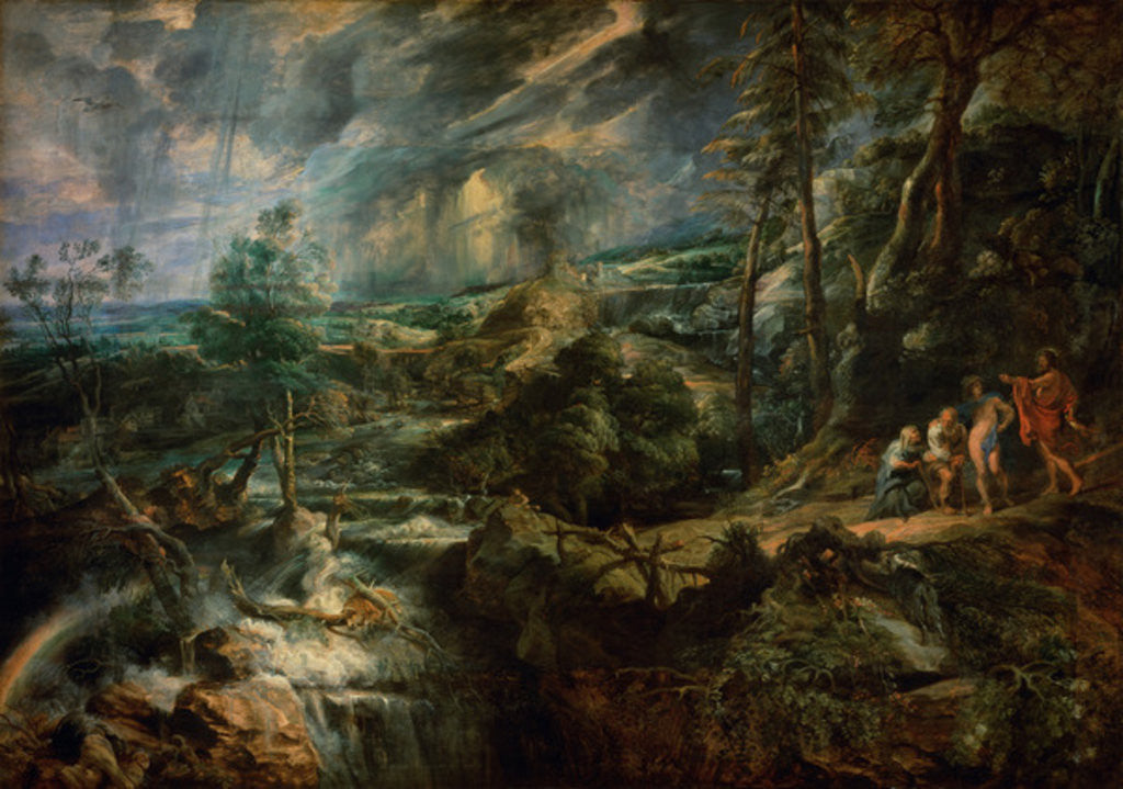 Detail of Landscape with Philemon and Baucis by Peter Paul Rubens