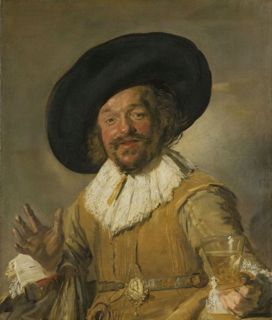 Detail of The Merry Drinker by Frans Hals