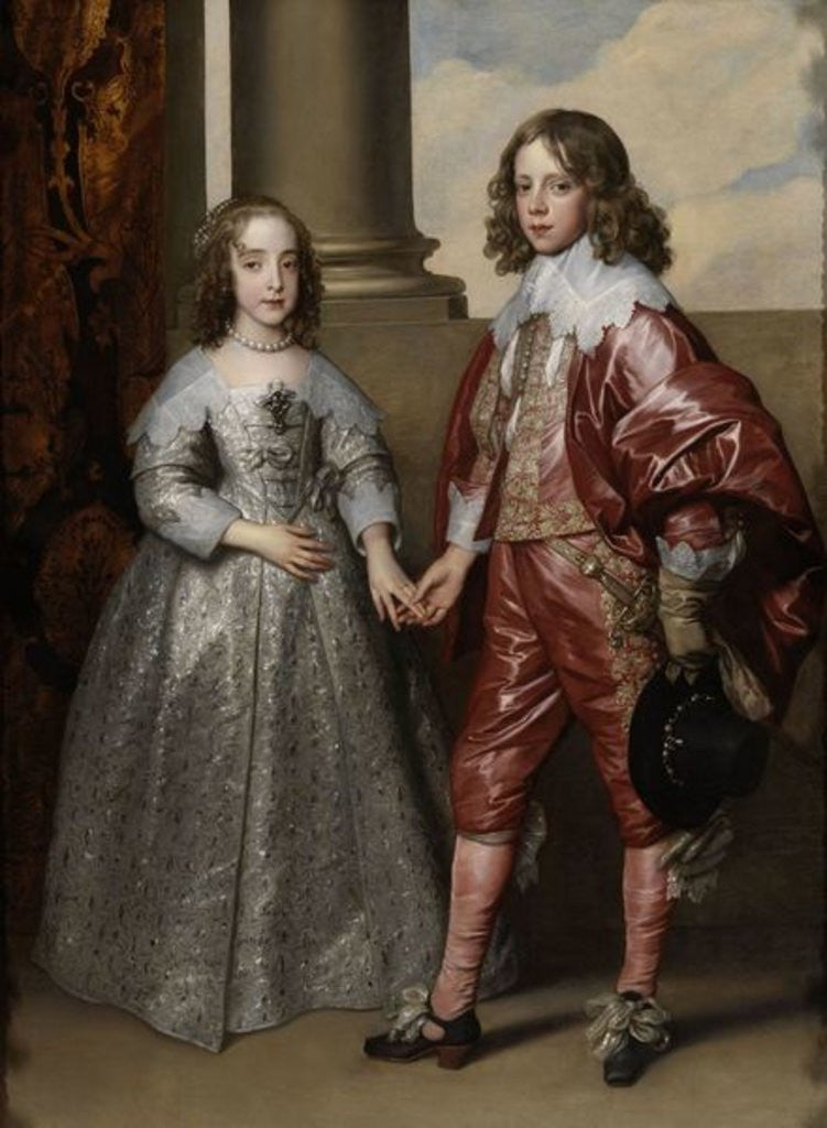 Detail of William II, Prince of Orange, and his Bride, Mary Stuart by Sir Anthony van Dyck