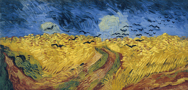 Detail of Wheatfield with Crows by Vincent van Gogh