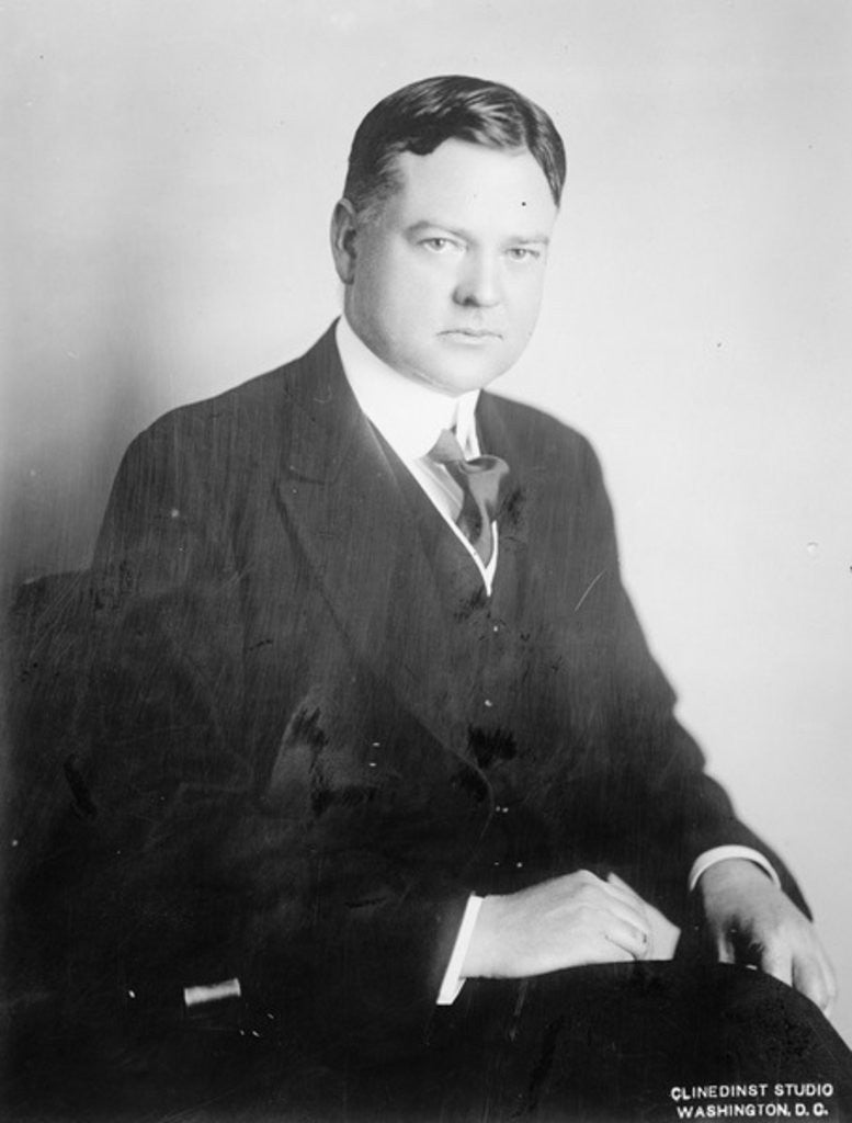 Detail of Herbert Hoover by American Photographer