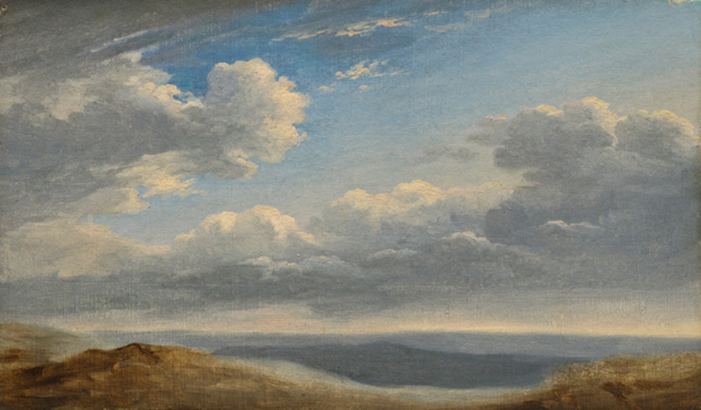 Detail of Study of Clouds over the Roman Campagna by Pierre Henri de Valenciennes
