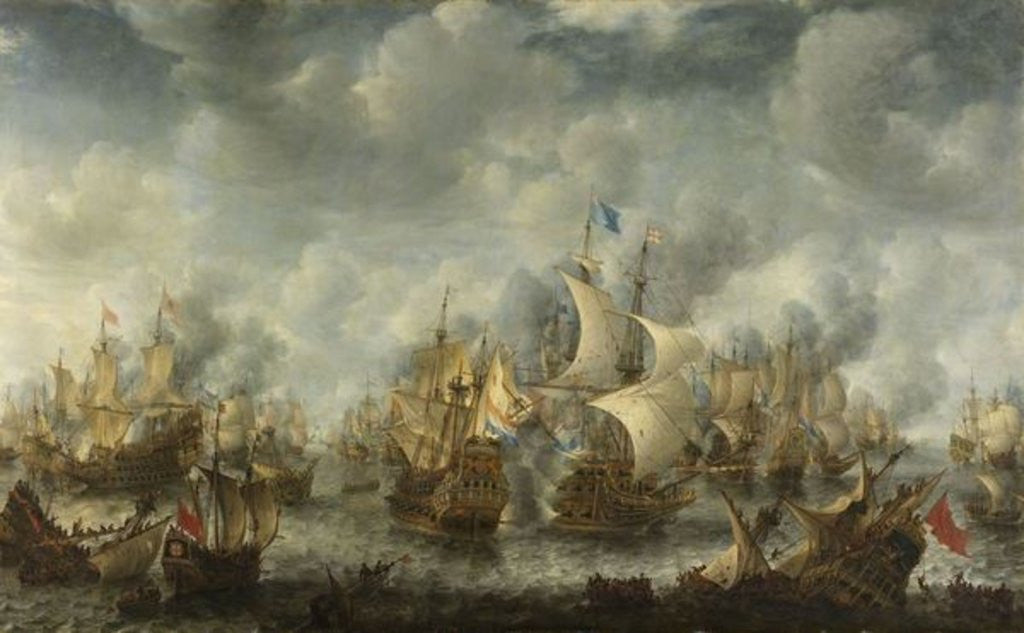 Detail of The Battle of Terheide by Jan Beerstraten