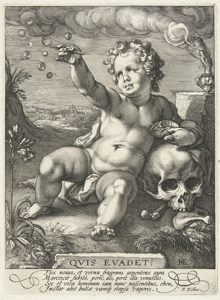 Detail of Homo Bulla by Hendrik Goltzius