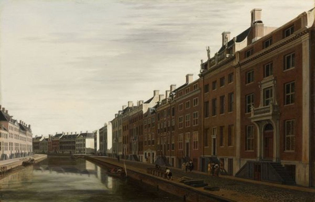 Detail of The 'Golden Bend' in the Herengracht, Amsterdam as seen from the West by Gerrit Adriaensz Berckheyde
