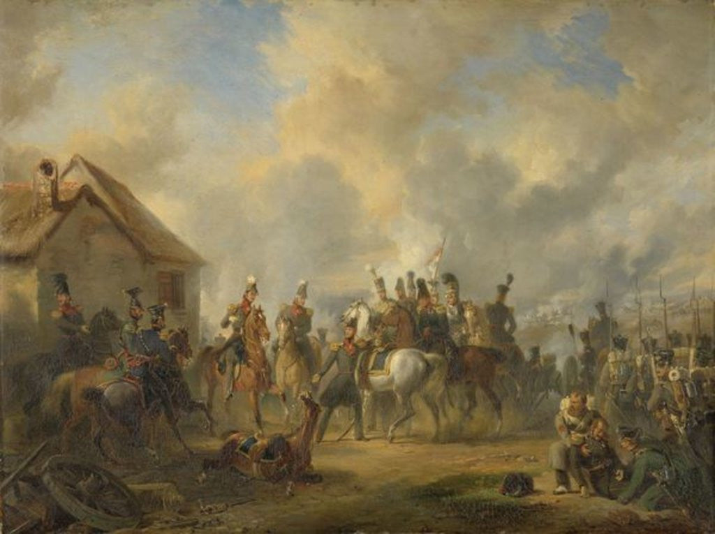 Detail of The Battle of Bautersem during the Ten Days Campaign by Nicholas Pieneman
